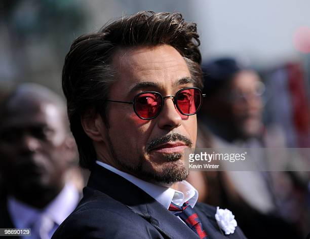 "Actor Robert Downey Jr. Arrives at the world premiere of Paramount Pictures and Marvel Entertainment's ""Iron Man 2� held at El Capitan Theatre on..."
