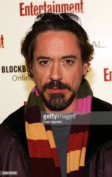Actor Robert Downey Jr arrives to the Entertainment Weekly Party at the Sundance Film Festival held at The Shop on January 21 2006 in Park City Utah