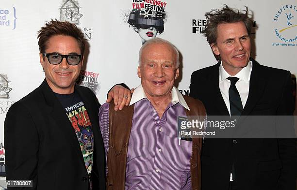 Actor Robert Downey Jr astronaut Buzz Aldrin and musician John Taylor arrive at Writers In Treatment's 4th Annual Experience Strength And Hope Awards...
