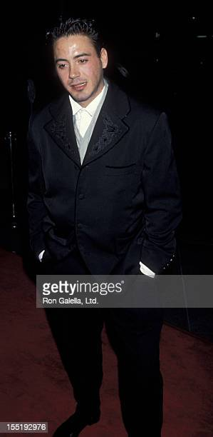 Actor Robert Downey Jr attends 62nd Annual Academy Awards on March 26 1990 at the Beverly Hilton Hotel in Beverly Hills California