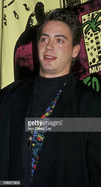 Actor Robert Downey Jr attends Fifth Annual MTV Video Music Awards on September 7 1988 at the Universal Ampitheater in Universal City California