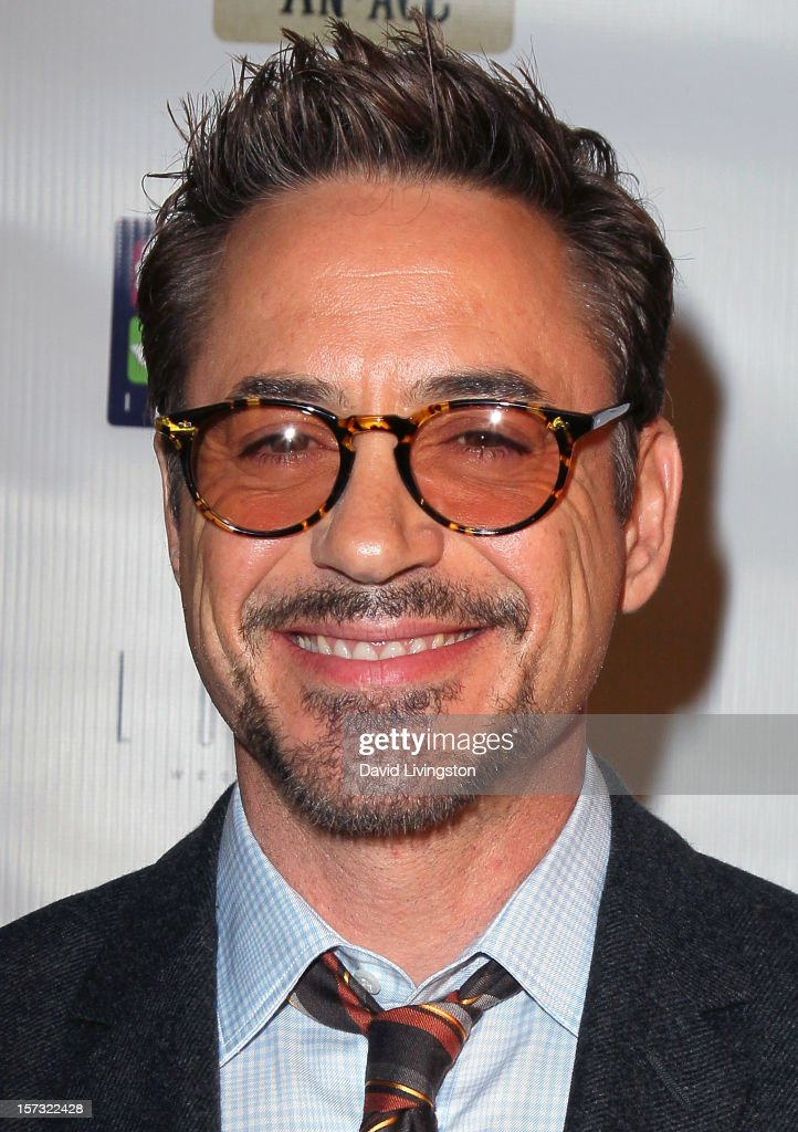 Actor Robert Downey Jr. attends Mending Kids International's 'Four Kings & An Ace' Celebrity Poker Tournament at The London Hotel on December 1, 2012 in West Hollywood, California.