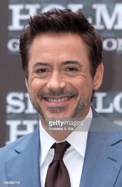 Actor Robert Downey Jr attends 'Sherlock Holmes Games Of Shadows' at Hassler Hotel on December 11 2011 in Rome Italy