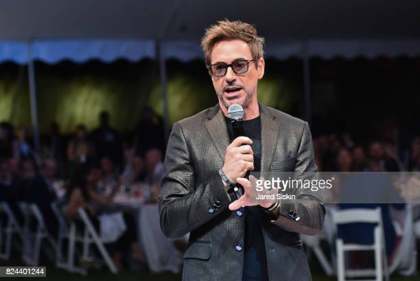 Actor Robert Downey Jr attends The 24th Annual Watermill Center Summer Benefit Auction at The Watermill Center on July 29 2017 in Water Mill New York