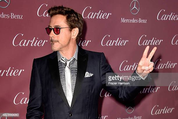 Actor Robert Downey Jr attends the 26th Annual Palm Springs International Film Festival Awards Gala at Parker Palm Springs on January 3 2015 in Palm...
