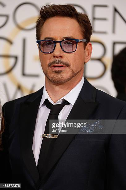 Actor Robert Downey Jr attends the 72nd Annual Golden Globe Awards at The Beverly Hilton Hotel on January 11 2015 in Beverly Hills California
