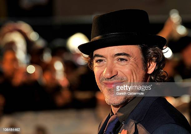 Actor Robert Downey Jr attends the 'Due Date' Premiere at The Empire Cinema Leicester Square on November 3 2010 in London England