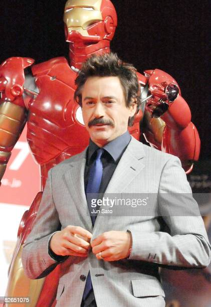 "Actor Robert Downey Jr. Attends the ""Iron Man"" Press Conference at Shinagawa Prince Hotel on September 3, 2008 in Tokyo, Japan. The film will open on..."