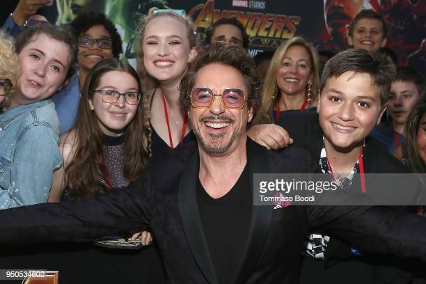 Actor Robert Downey Jr attends the Los Angeles Global Premiere for Marvel Studios' Avengers Infinity War on April 23 2018 in Hollywood California