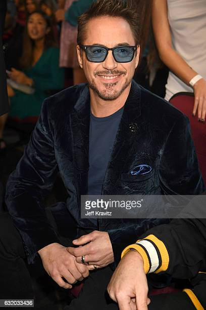 Actor Robert Downey Jr attends the People's Choice Awards 2017 at Microsoft Theater on January 18 2017 in Los Angeles California
