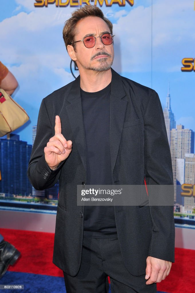 Actor Robert Downey Jr. attends the premiere of Columbia Pictures' 'Spider-Man: Homecoming' at TCL Chinese Theatre on June 28, 2017 in Hollywood, California.