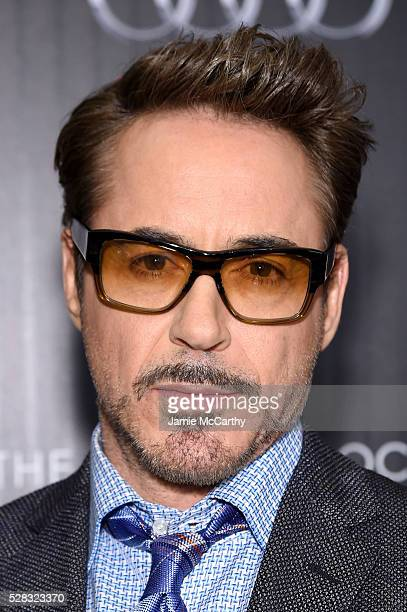Actor Robert Downey Jr attends the screening of Marvel's 'Captain America Civil War' hosted by The Cinema Society with Audi FIJI at Henry R Luce...