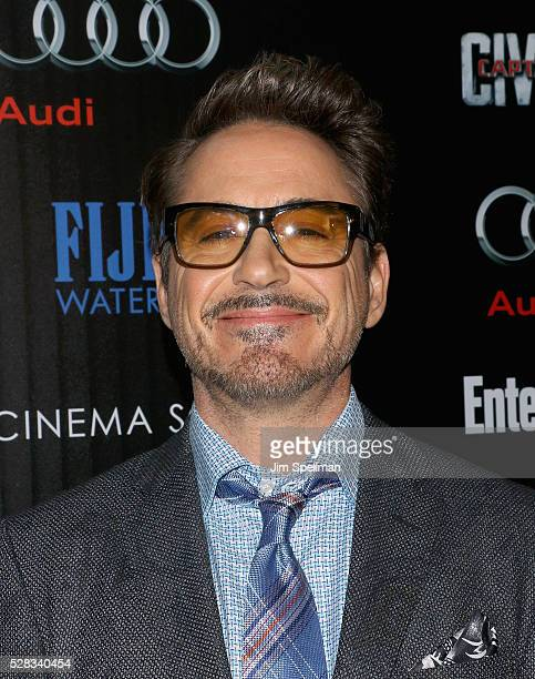 Actor Robert Downey Jr attends the screening of Marvel's 'Captain America Civil War' hosted by The Cinema Society with Audi FIJI at Brookfield Place...
