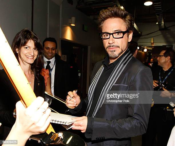 Actor Robert Downey Jr backstage during the 52nd Annual GRAMMY Awards held at Staples Center on January 31 2010 in Los Angeles California