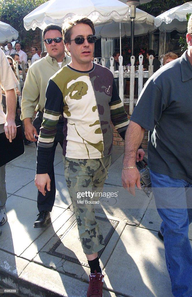 Actor Robert Downey Jr. poses at Los Angeles Photo Call
