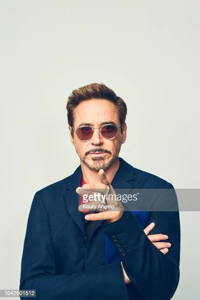 Actor Robert Downey Jr is photographed for People Magazine on July 25 2017 at D23 Expo in Los Angeles California