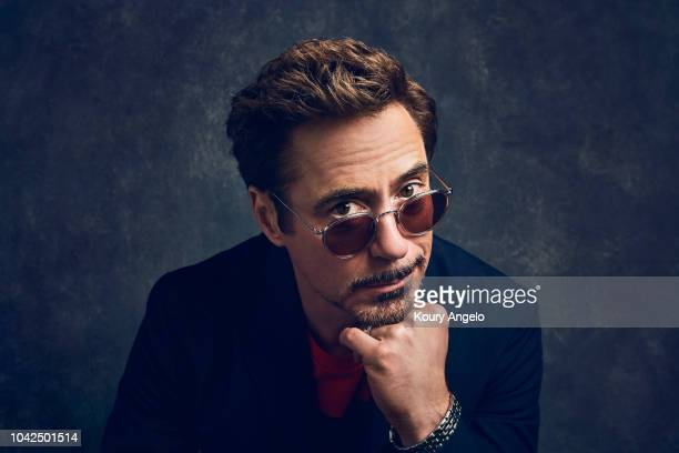 Actor Robert Downey Jr. Is photographed for People Magazine on July 25, 2017 at D23 Expo in Los Angeles, California.