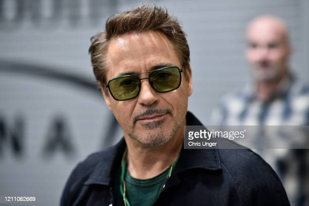 Actor Robert Downey Jr is seen arriving backstage during the UFC 248 event at TMobile Arena on March 07 2020 in Las Vegas Nevada