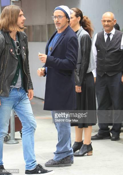 Actor Robert Downey Jr is seen on June 7 2017 in Los Angeles California