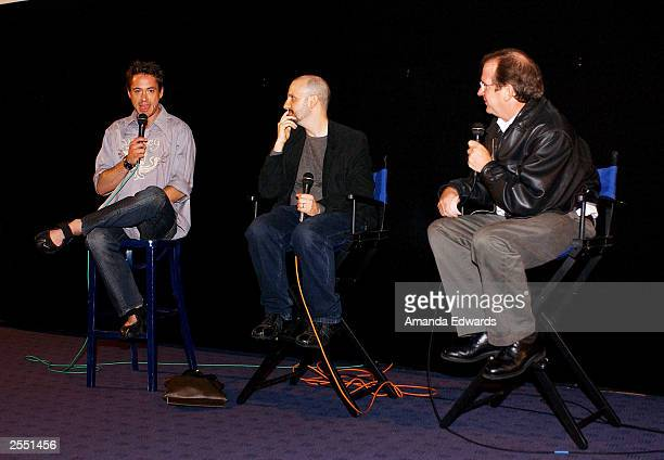 Actor Robert Downey Jr joins director Keith Gordon and film historian Pete Hammond for a QA session following the Variety screening of The Singing...
