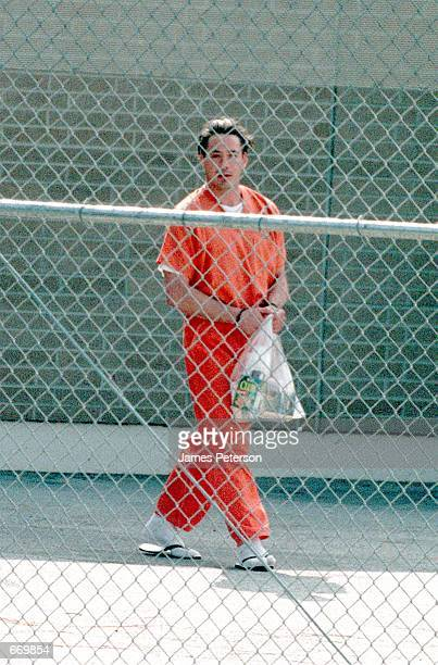 Actor Robert Downey Jr on his way to a prison bus after his hearing August 5 1999 in Malibu California Downey was arrested again November 25 2000 for...