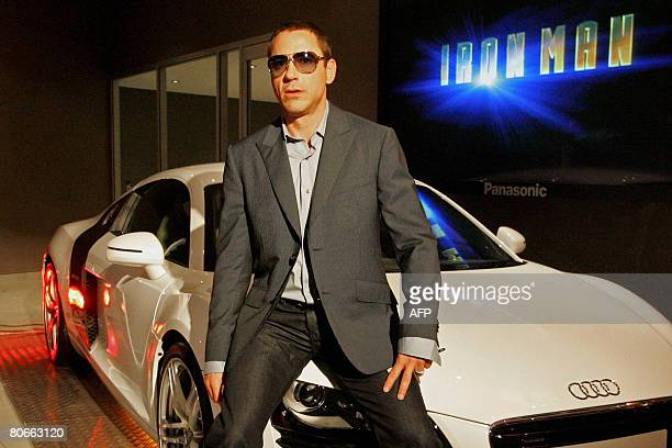 Actor Robert Downey Jr poses at the premiere of his new film in Sydney on April 14, 2008. The American actor is in Australia to promote his new film...