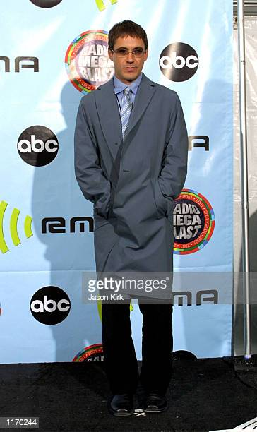 Actor Robert Downey Jr poses backstage at the 2001 Radio Music Awards at the Aladdin Resort and Casino October 26 2001 in Las Vegas NV