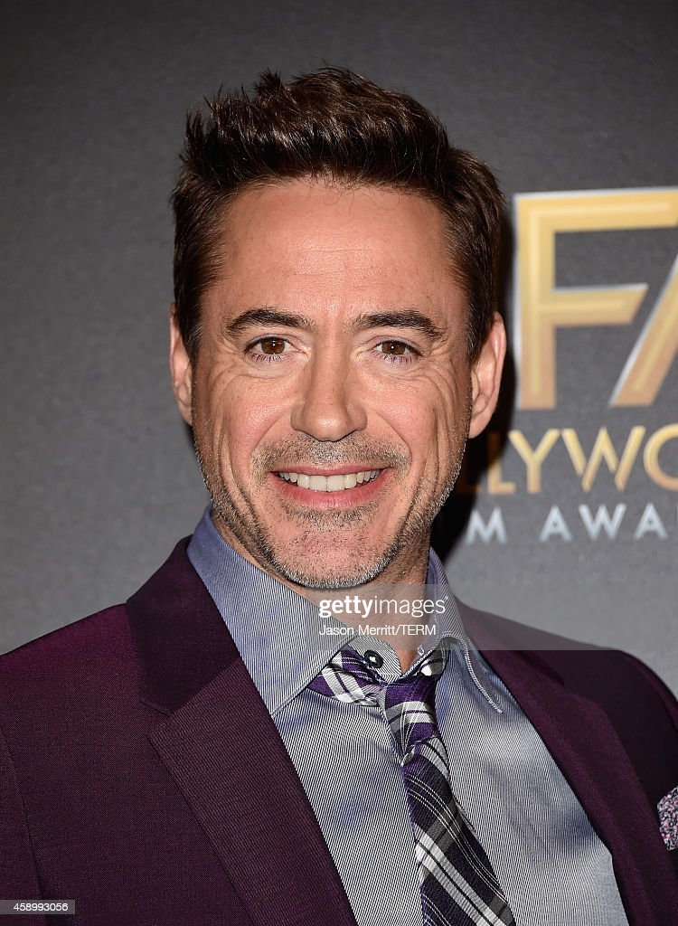 Actor Robert Downey Jr. poses in the press room during the 18th Annual Hollywood Film Awards at The Palladium on November 14, 2014 in Hollywood, California.