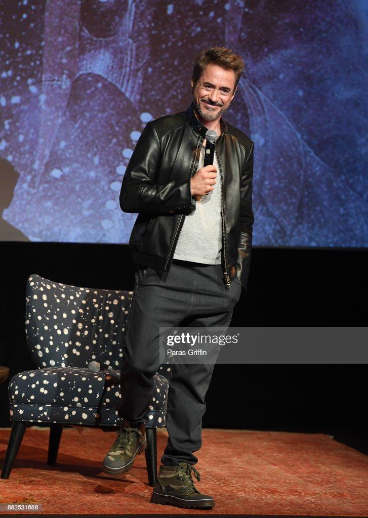 Actor Robert Downey Jr. speaks onstage at 'Wind River' special screening at SCADShow on November 29, 2017 in Atlanta, Georgia.
