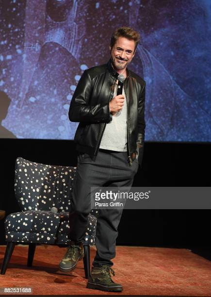 "Actor Robert Downey Jr. Speaks onstage at ""Wind River"" special screening at SCADShow on November 29, 2017 in Atlanta, Georgia."