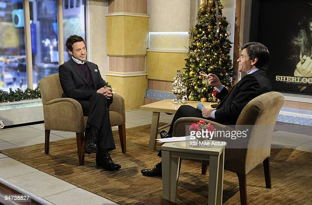 "Actor Robert Downey, Jr. Talks about his role in the new movie, ""Sherlock Holmes"" today on GOOD MORNING AMERICA. GOOD MORNING AMERICA airs..."