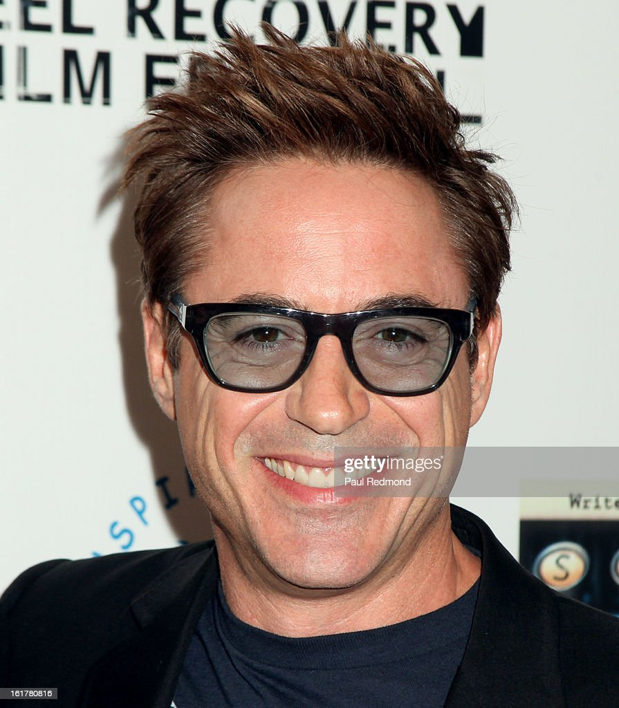 Actor Robert Downey Jr.arrives at Writers In Treatment's 4th Annual Experience, Strength And Hope Awards at Skirball Cultural Center on February 15, 2013 in Los Angeles, California.