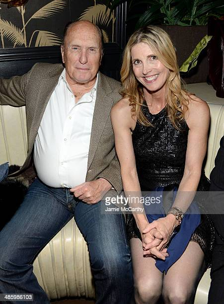 Actor Robert Duvall and filmmaker Karen Leigh Hopkins attend the Miss Meadows Premiere after party during the 2014 Tribeca Film Festival sponsored By...
