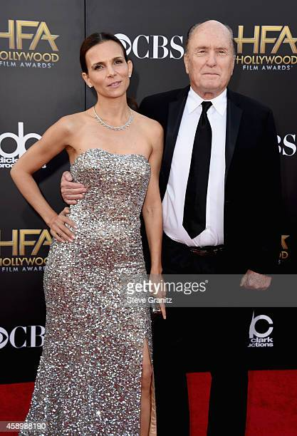 Actor Robert Duvall and Luciana Pedraza attend the 18th Annual Hollywood Film Awards at The Palladium on November 14 2014 in Hollywood California