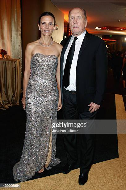 Actor Robert Duvall and Luciana Pedraza attend The 18th Annual Hollywood Film Awards at The Palladium on November 14 2014 in Hollywood California...
