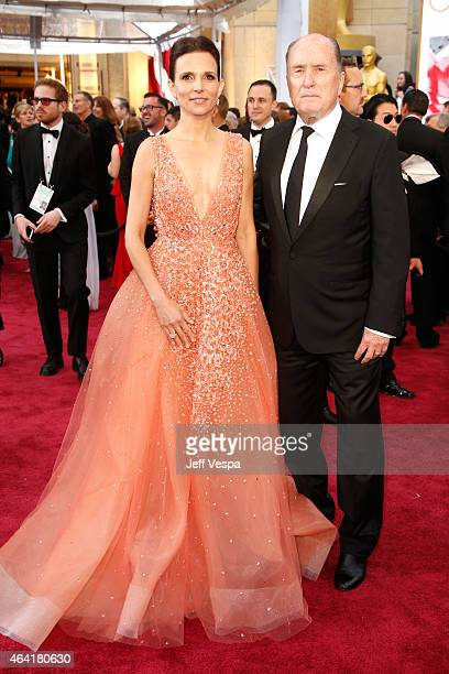Actor Robert Duvall and Luciana Pedraza attend the 87th Annual Academy Awards at Hollywood Highland Center on February 22 2015 in Hollywood California