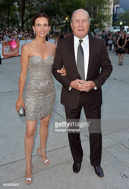 Actor Robert Duvall and Luciana Pedraza attend The Judge premiere during the 2014 Toronto International Film Festival at Roy Thomson Hall on...