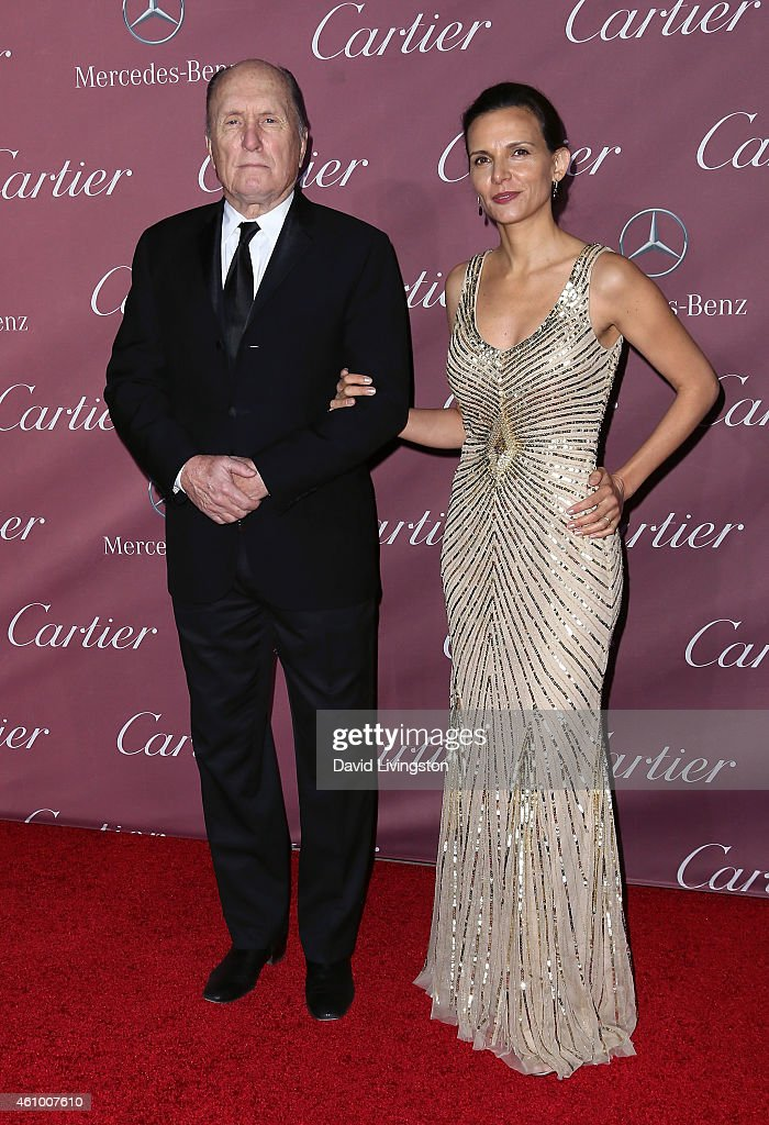 Actor Robert Duvall (L) and wife Luciana Duvall attend the 26th Annual Palm Springs International Film Festival Awards Gala at the Palm Springs Convention Center on January 3, 2015 in Palm Springs, California.