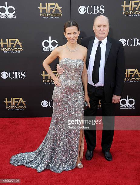 Actor Robert Duvall and wife Luciana Pedraza arrive at the 18th Annual Hollywood Film Awards at The Palladium on November 14 2014 in Hollywood...