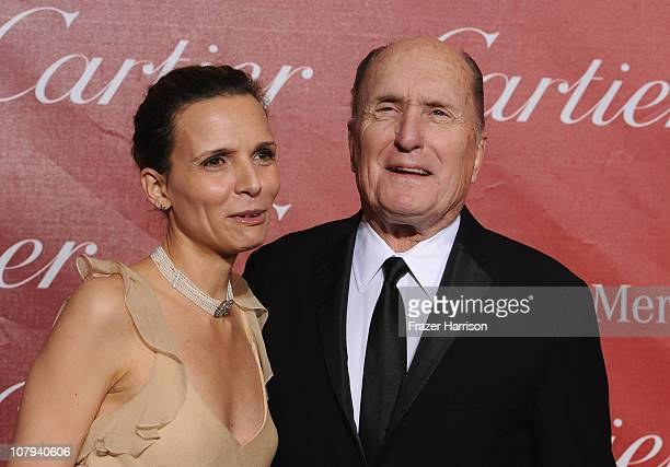 Actor Robert Duvall and wife Luciana Pedraza arrive at the 2011 Palm Springs International Film Festival Awards Gala at the Palm Springs Convention...