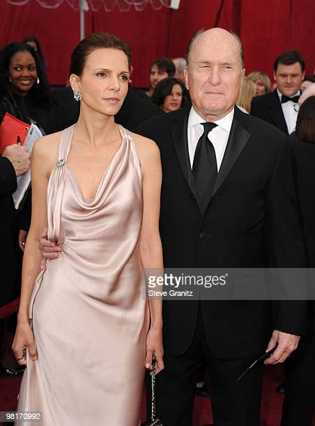 Actor Robert Duvall and wife Luciana Pedraza arrive at the 82nd Annual Academy Awards held at the Kodak Theatre on March 7 2010 in Hollywood...
