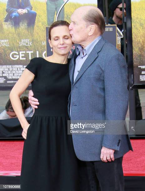 Actor Robert Duvall and wife Luciana Pedraza attend his hand and footprint ceremony at Grauman's Chinese Theatre on January 5 2011 in Hollywood...