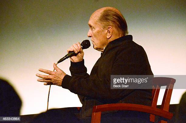 Actor Robert Duvall attends special screening and QA of The Judge and To Kill A Mockingbird at Aero Theatre on February 12 2015 in Santa Monica...