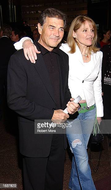 Actor Robert Forster and actress Helen Shaver attend the world premiere screening of Showtime's Due East May 1 2002 in Los Angeles CA