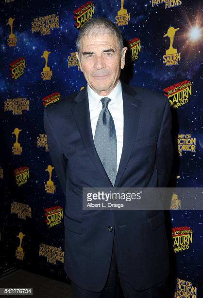 Actor Robert Forster poses in the pressroom at the 42nd annual Saturn Awards at The Castaway on June 22, 2016 in Burbank, California.