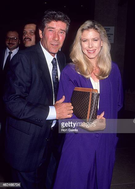 Actor Robert Fuller and actress Jennifer Savidge attend the Academy of Television Arts Sciences Salute to Angela Lansbury on February 22 1990 at the...