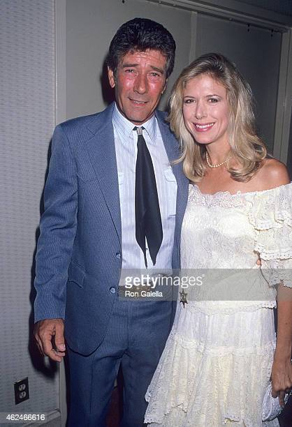 Actor Robert Fuller and actress Jennifer Savidge attend the Motion Picture Television Fund's Seventh Annual Golden Boot Awards on August 5 1989 at...