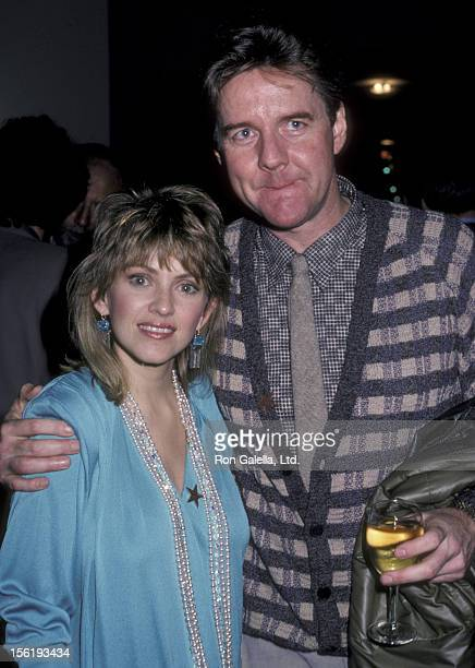 Actor Robert Ginty and Lorna Patterson attend Hollywood Walk of Fame Honors Stephen J Crane on January 14 1986 at the Hollywood Walk of Fame in...