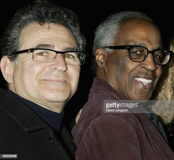 Actor Robert Guillaume and the production's codirector/cocreator Paul Kreppel pose at the celebrity opening night of the Broadway bound show Jay...