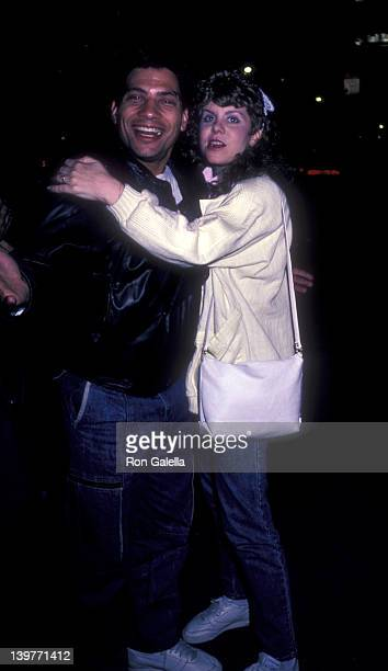 Actor Robert Hegyes and date sighted on May 19 1985 at Elaine's Restaurant in New York City